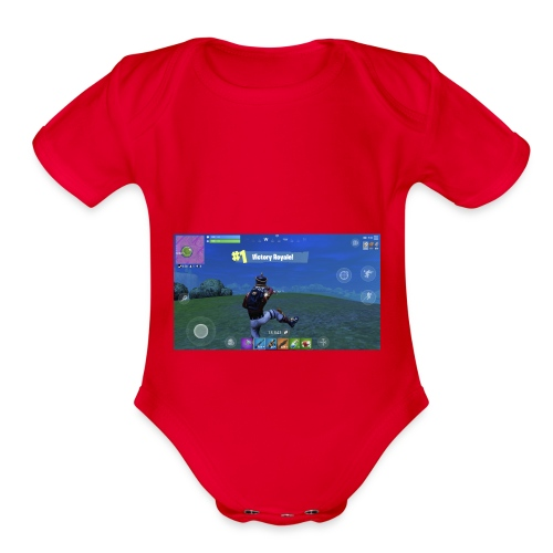 My First Win! - Organic Short Sleeve Baby Bodysuit