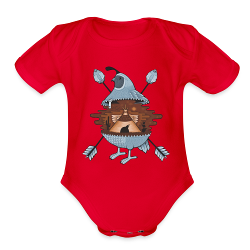 pigeon in the tent - Organic Short Sleeve Baby Bodysuit