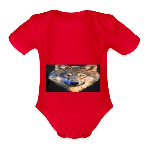 wolf merch - Organic Short Sleeve Baby Bodysuit