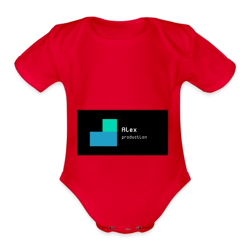 Alex production - Organic Short Sleeve Baby Bodysuit