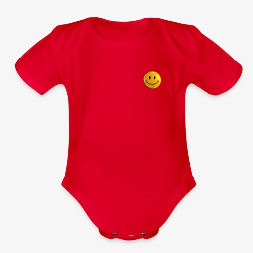 Smile Pin - Organic Short Sleeve Baby Bodysuit