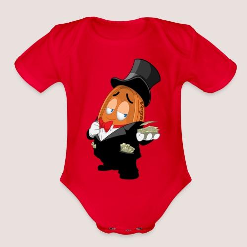 THE JACKPOT PENNY - Organic Short Sleeve Baby Bodysuit