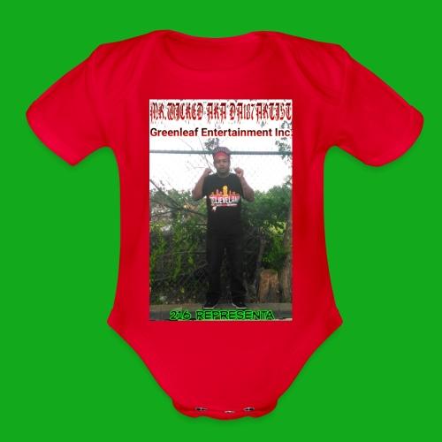 Mr.Wicked 216 Representa - Organic Short Sleeve Baby Bodysuit
