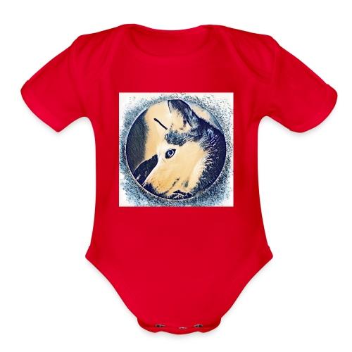 Spirit Wolfie Paint - Organic Short Sleeve Baby Bodysuit