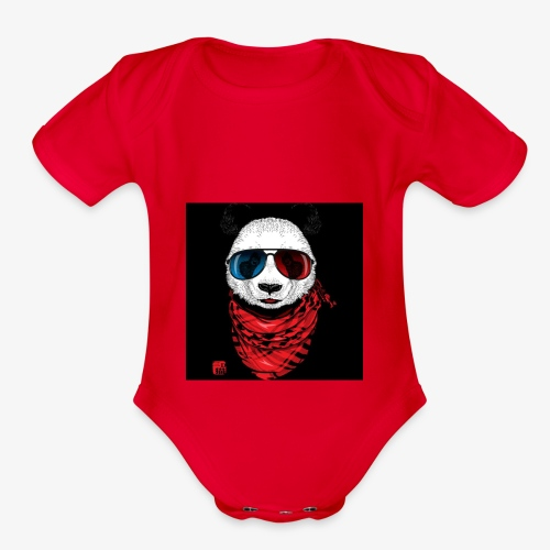 Blood gang up - Organic Short Sleeve Baby Bodysuit