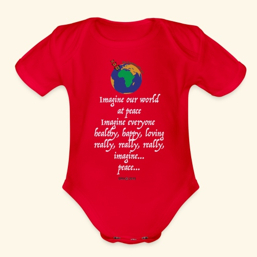 ImagineWH - Organic Short Sleeve Baby Bodysuit