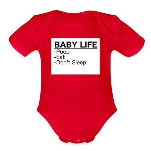 BabyLife - Organic Short Sleeve Baby Bodysuit