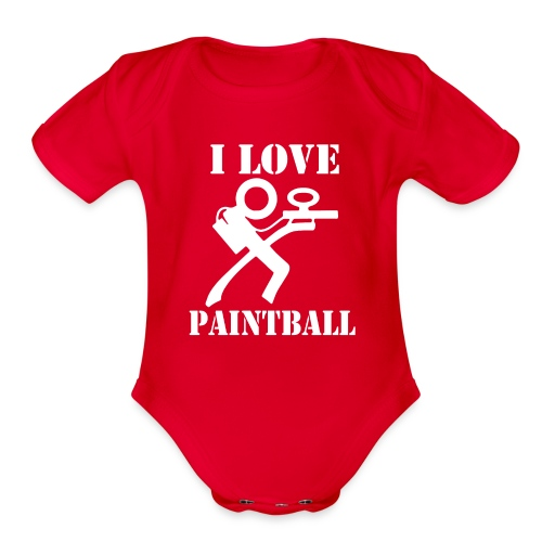 I Love Paintball 2019 - Organic Short Sleeve Baby Bodysuit