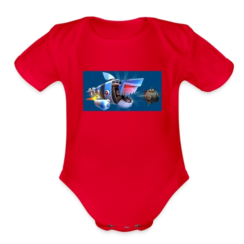 MightyJaws12 Logo - Organic Short Sleeve Baby Bodysuit