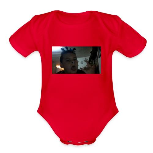 TRIPPIE J face tee-shirt - Organic Short Sleeve Baby Bodysuit