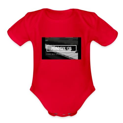 Paino Guy 136 - Organic Short Sleeve Baby Bodysuit
