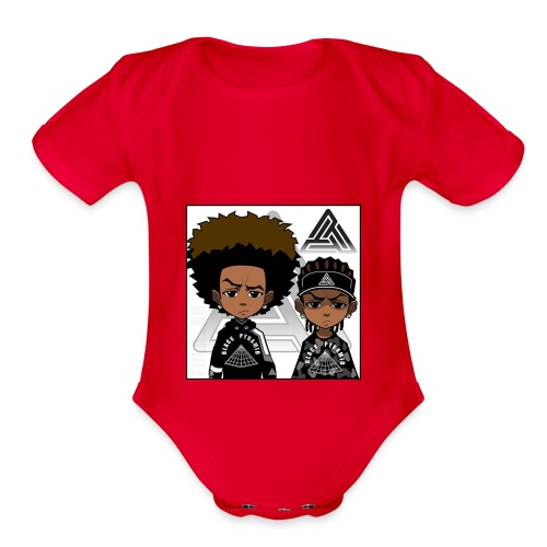 REVERSE TWINS - Organic Short Sleeve Baby Bodysuit