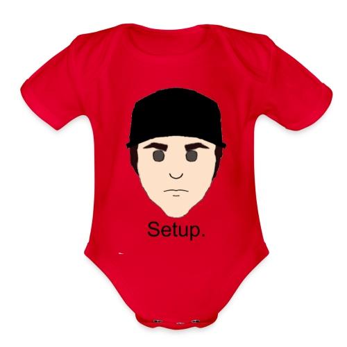 Setup Sam Squared Merch - Organic Short Sleeve Baby Bodysuit
