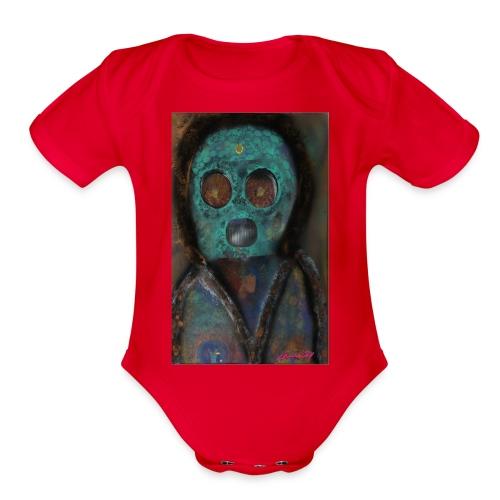 The galactic space monkey - Organic Short Sleeve Baby Bodysuit