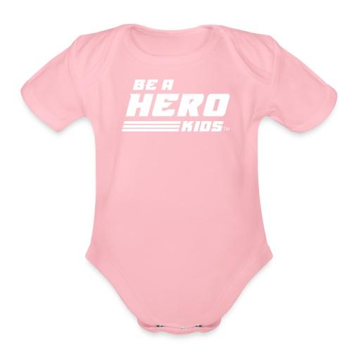 BHK secondary white TM - Organic Short Sleeve Baby Bodysuit