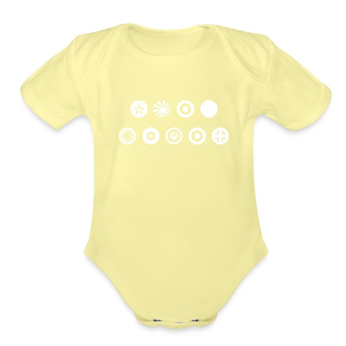 Axis & Allies Country Symbols - One Color - Organic Short Sleeve Baby Bodysuit
