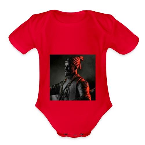 Shivaji Maharaj - 1 - Organic Short Sleeve Baby Bodysuit
