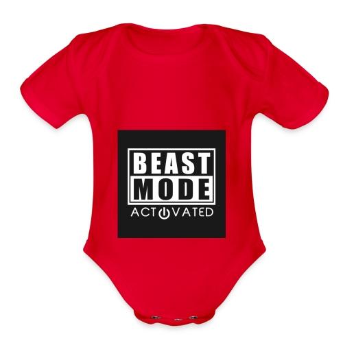beast - Organic Short Sleeve Baby Bodysuit