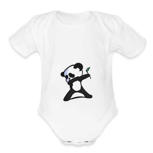 Panda DaB - Organic Short Sleeve Baby Bodysuit