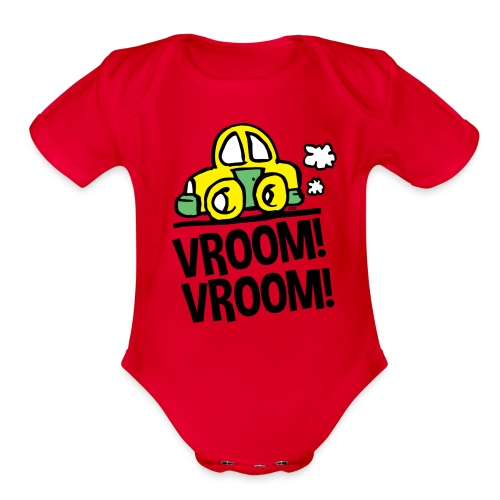 Vroom!Vroom! - Organic Short Sleeve Baby Bodysuit