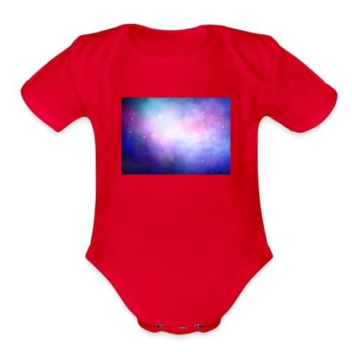 galaxy scene 1048 5105 - Organic Short Sleeve Baby Bodysuit