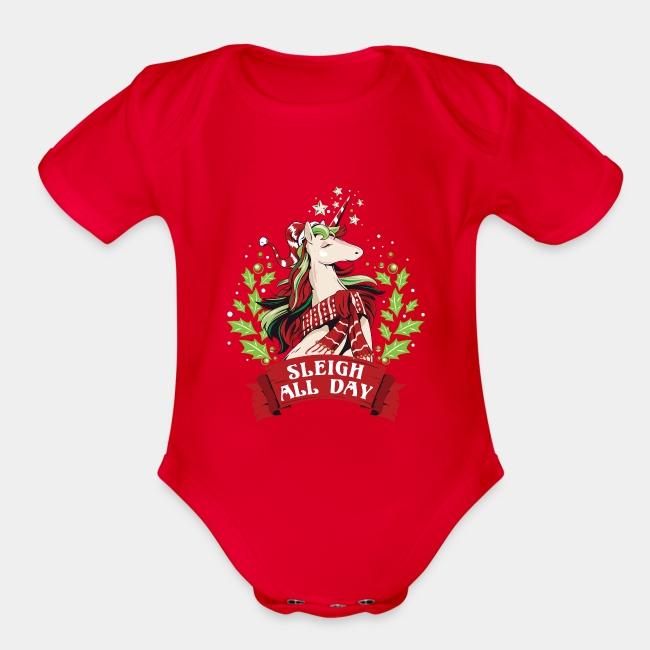 Santa I Want A Unicorn for Christmas Infant Bodysuit