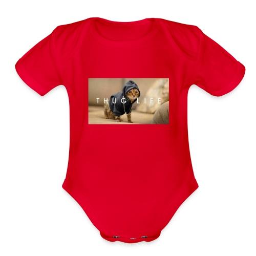 mycat - Organic Short Sleeve Baby Bodysuit