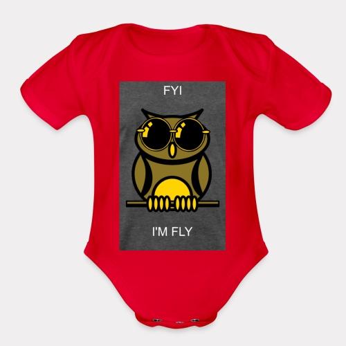 Fly Owl - Organic Short Sleeve Baby Bodysuit
