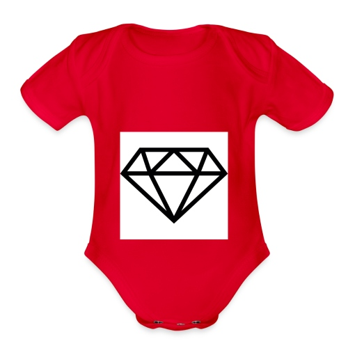 diamond outline 318 36534 - Organic Short Sleeve Baby Bodysuit