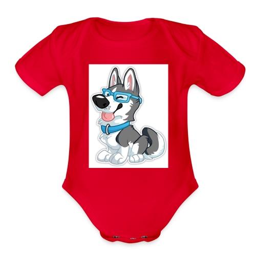 N3RDHusky - Organic Short Sleeve Baby Bodysuit