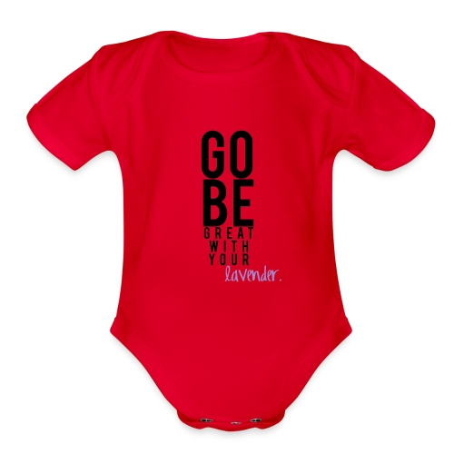 Go Be Great - Organic Short Sleeve Baby Bodysuit