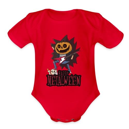 Happy Metalween - Organic Short Sleeve Baby Bodysuit