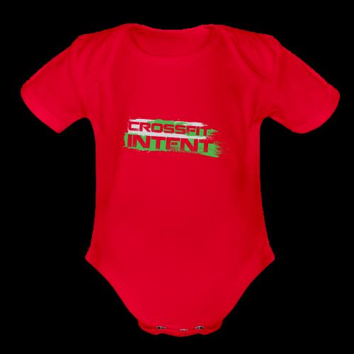 Splatter CFI Logo Trans - Organic Short Sleeve Baby Bodysuit