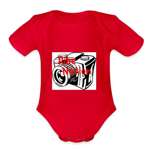 Tube Nation Camera T-shirts - Organic Short Sleeve Baby Bodysuit