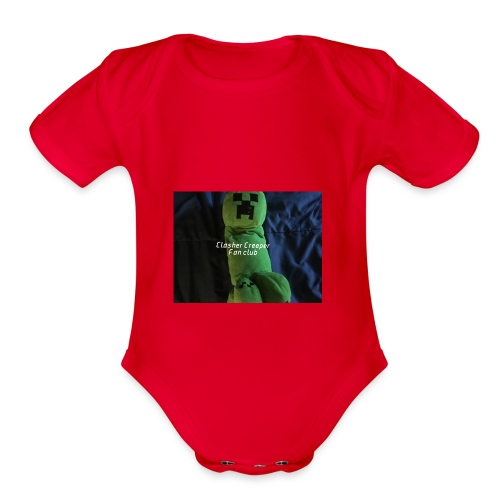 Clasher Creeper Fan Club - Organic Short Sleeve Baby Bodysuit