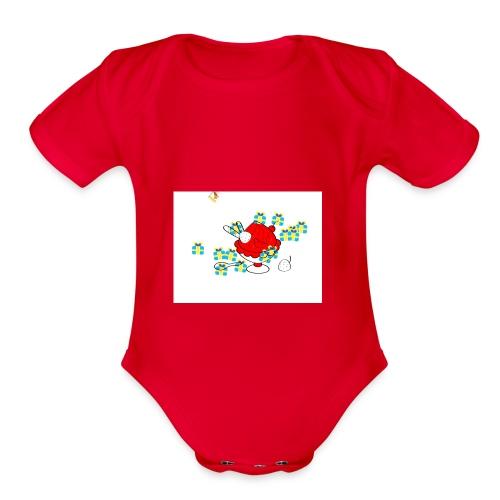 IMG 0145 - Organic Short Sleeve Baby Bodysuit