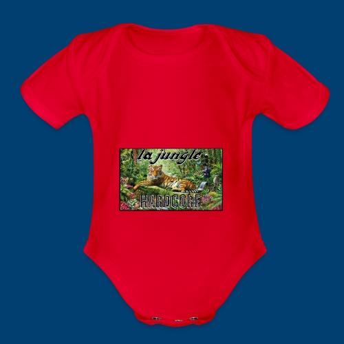 lajunglehardcore - Organic Short Sleeve Baby Bodysuit