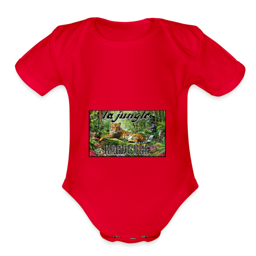 lajunglehardcore - Organic Short Sleeve Baby Bodysuit