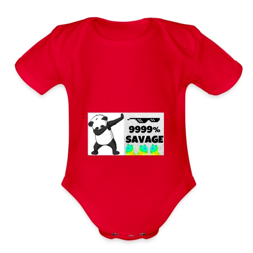 savage bra - Organic Short Sleeve Baby Bodysuit