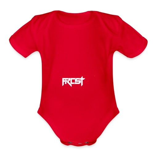 FROST TEXT LOGO - Organic Short Sleeve Baby Bodysuit