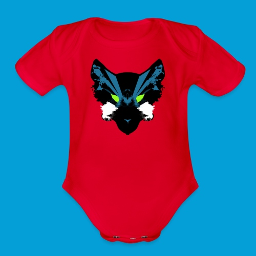 Galaxy Wolf Pack - Organic Short Sleeve Baby Bodysuit