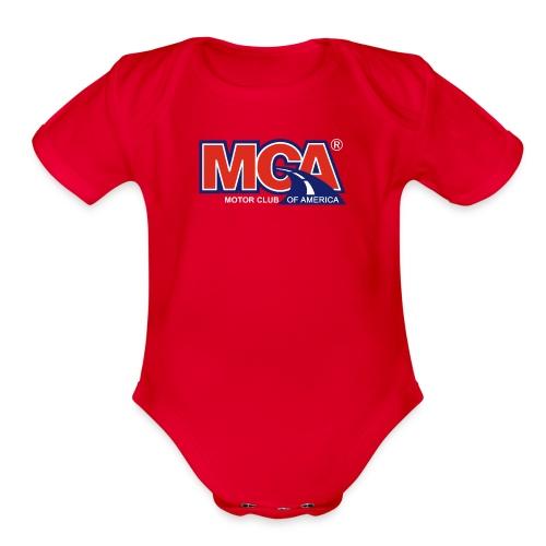 MCA Logo Transparent - Organic Short Sleeve Baby Bodysuit