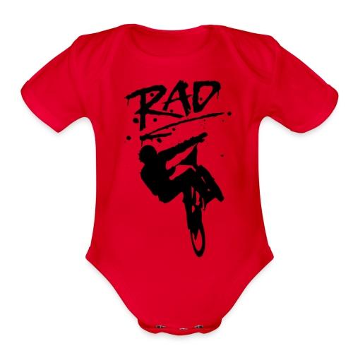 RAD BMX Bike Graffiti 80s Movie Radical Shirts - Organic Short Sleeve Baby Bodysuit