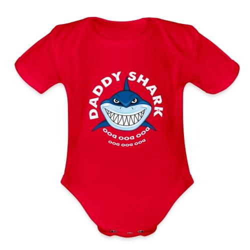 Daddy Shark T-shirt Doo Doo Doo - Father's Day Gif - Organic Short Sleeve Baby Bodysuit