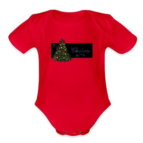 It's Christmas Time - Organic Short Sleeve Baby Bodysuit