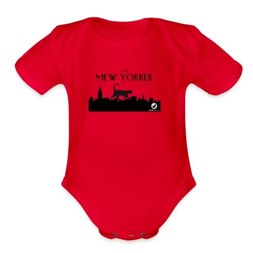 The Mew Yorker - Organic Short Sleeve Baby Bodysuit