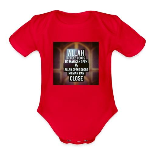 allah power - Organic Short Sleeve Baby Bodysuit