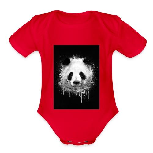 Panda - Organic Short Sleeve Baby Bodysuit