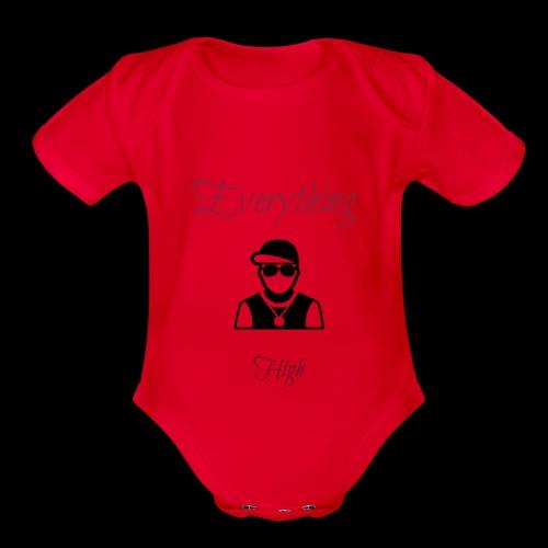 Everything High - Organic Short Sleeve Baby Bodysuit