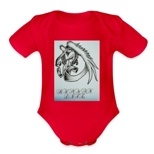 Midnight angel - Organic Short Sleeve Baby Bodysuit